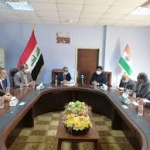 The Chancellor of University of Misan makes a joint scientific cooperation program with the Indian ambassador